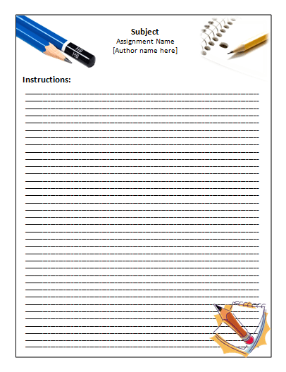 Handwriting paper template microsoft word templates for Free printable lined paper template for kids
