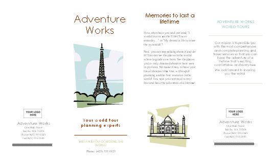 word brochure template  u2013 word templates for free download