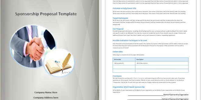 Sponsorship Proposal Template Microsoft Word Templates - Sponsorship brochure template