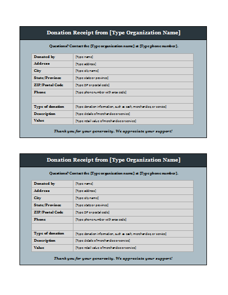 Donation Form Template – Word Templates for Free Download
