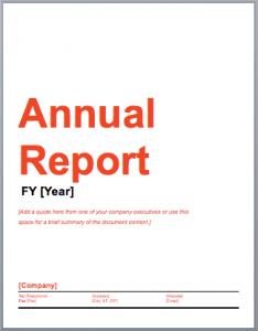 Annual Report Template 1