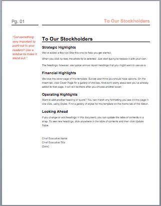 Annual Report Template 2