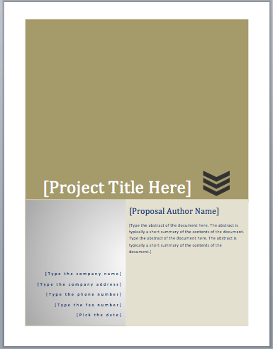 Funding Proposal Template 1