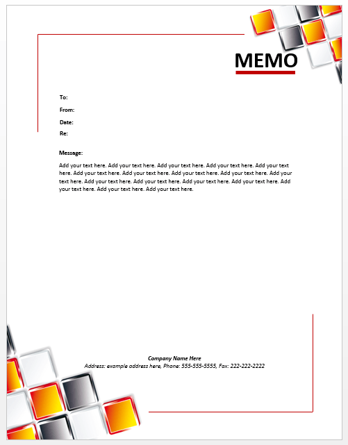 Office Memo Template  Microsoft Word Memo Format