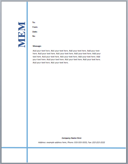 Memo Word Templates – Microsoft Word Templates
