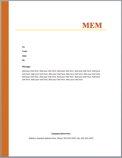 Marvelous MOU Template To Microsoft Word Memo Format