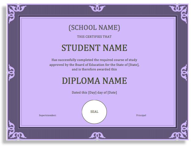 school certificate 2010