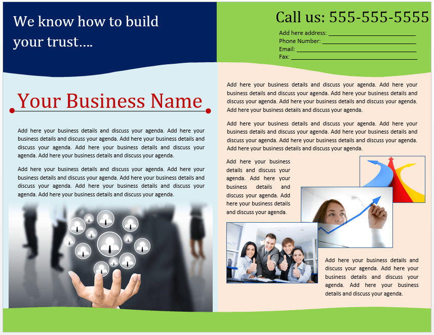 Brochure Templates Microsoft Word Templates - Sales brochure template