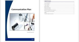 Communication Plan Template 1