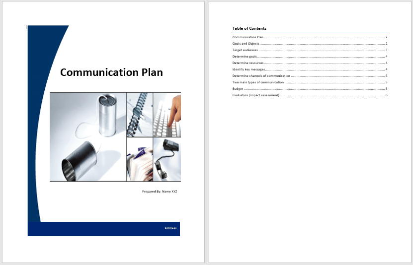 communication plan template  u2013 word templates for free download