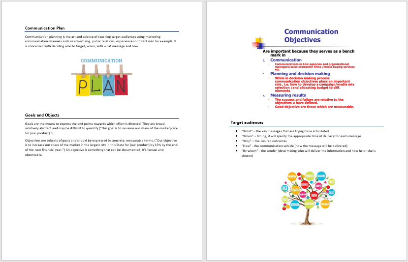 Communication Plan Template 2