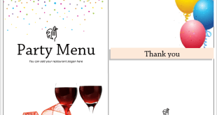 Party Menu Template 1  Microsoft Word Restaurant Menu Template