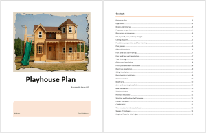 Playhouse Plan Template 1