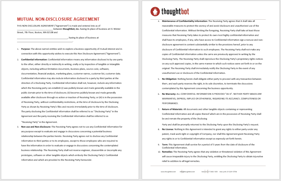 Non Disclosure Agreement Template 03