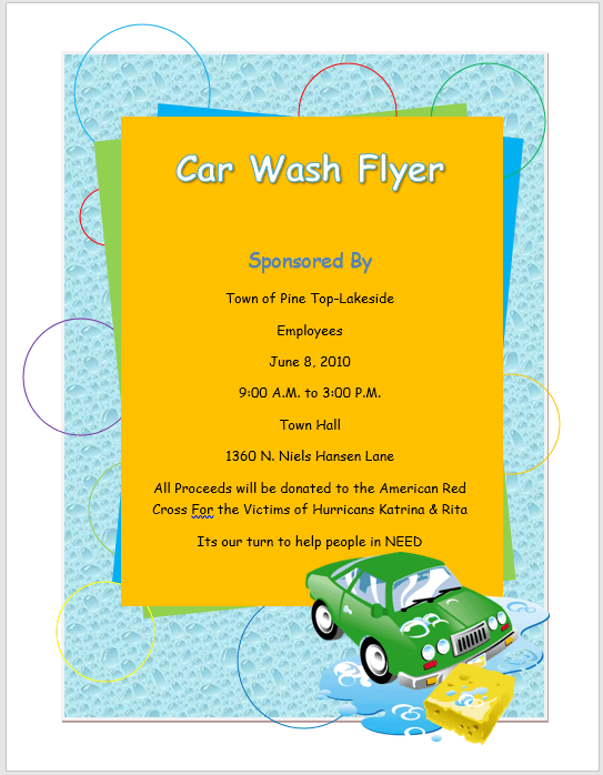 Car Wash Flyer Template Microsoft Word Templates