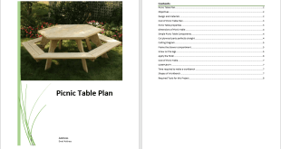 Picnic Table Plan Template