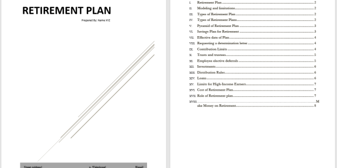 retirement plan template  u2013 microsoft word templates