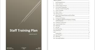 Staff Training Plan Template