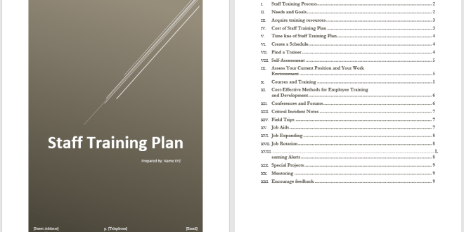 staff training plan template  u2013 word templates for free download
