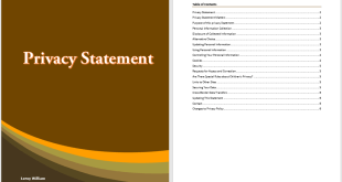 Privacy Statement Template