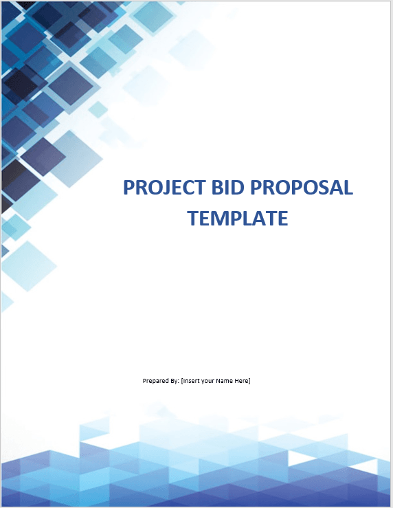 Project Bid proposal template 03