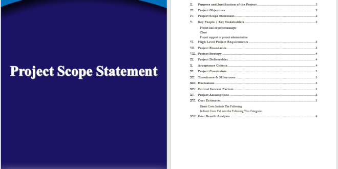 project scope statement template  u2013 word templates for free