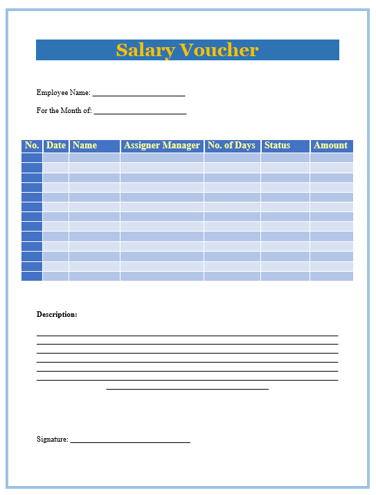 Salary Slip Template 5  Employee Salary Slip Sample