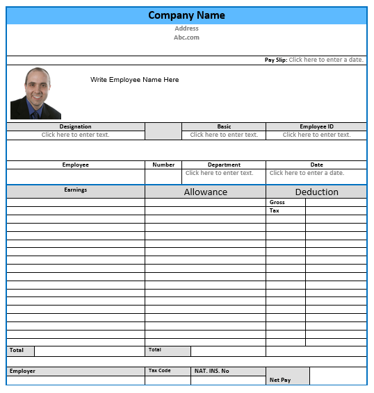 32 salary slip format  u0026 templates  u2013 word templates for free download