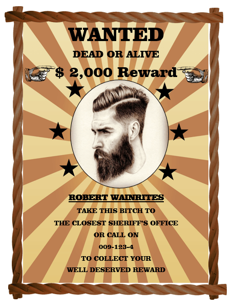 Wanted Poster Template 7
