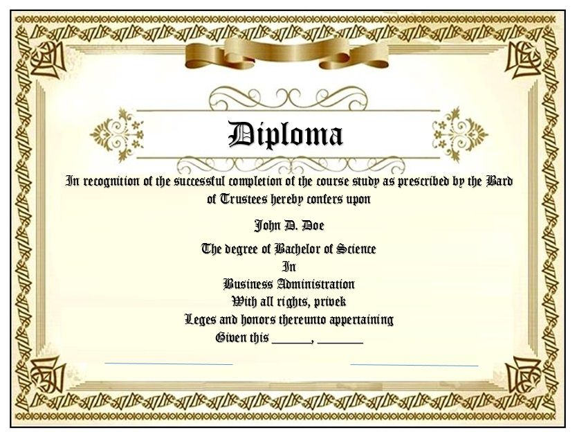 Diploma Certificate Template 03