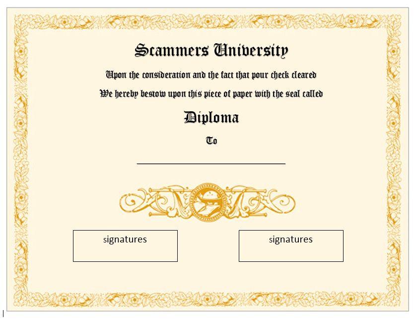 Diploma Certificate Template 07