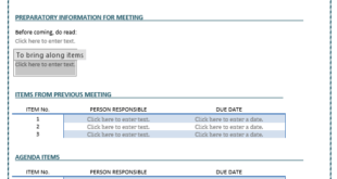 Business Meeting Agenda Template