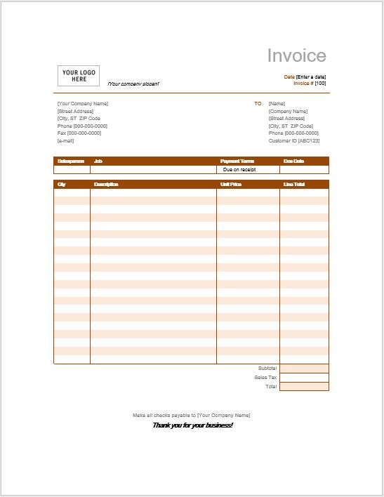 Invoice Template 10
