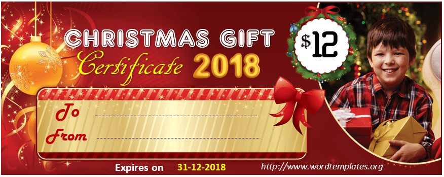 Christmas Gift Certificate Template 2018 - 04