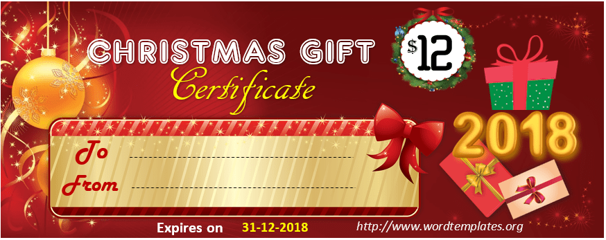 Christmas Gift Certificate Template 2018 - 05
