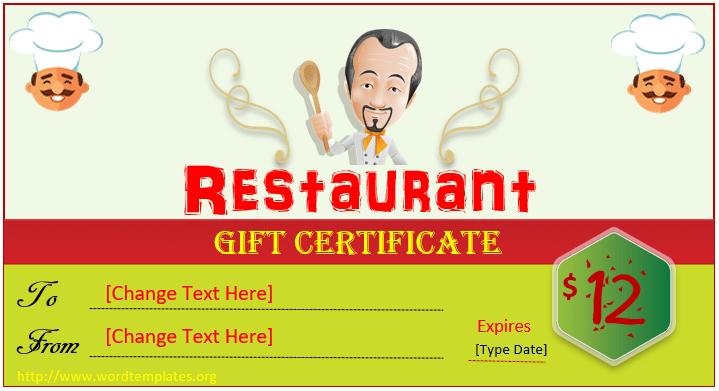 Restaurant Gift Certificate Template 2018 - 15