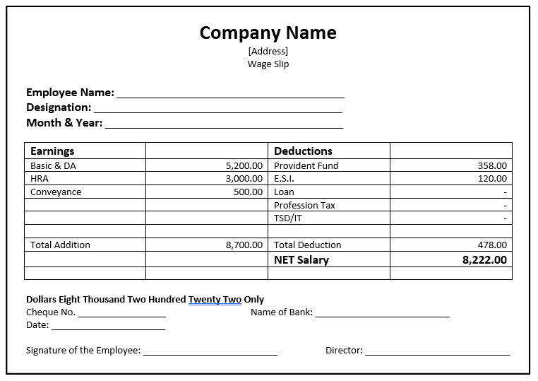 32 Salary Slip Format Templates Word Templates For Free Download