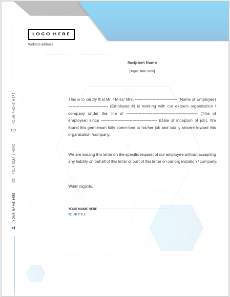 Salary Certificate Templates Word Templates For Free Download