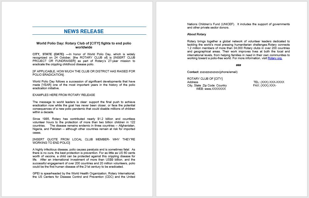 press release template 06