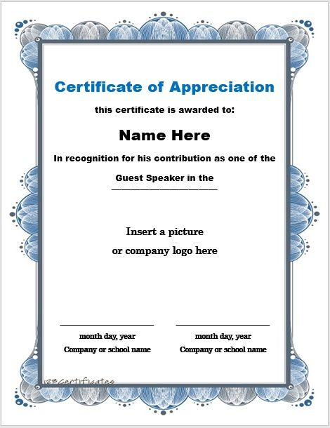 Certificate of Appreciation Template 05