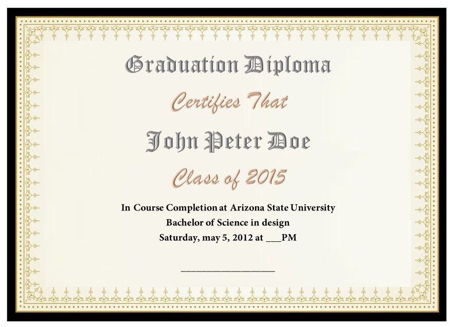 Diploma Certificate Template 12