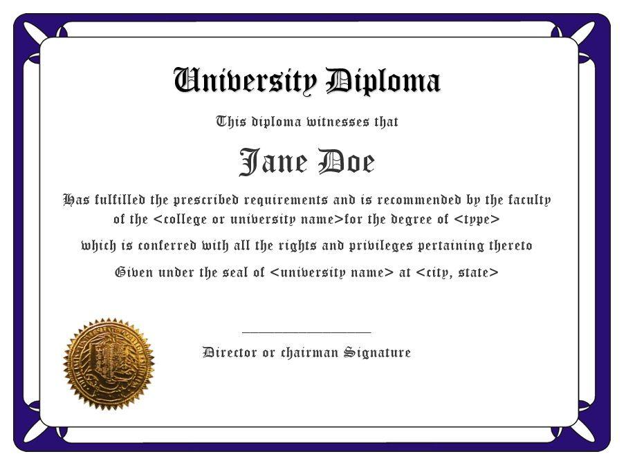Diploma Certificate Template 13