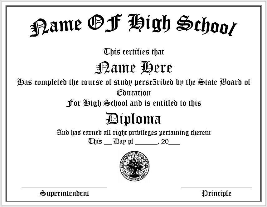 Diploma Certificate Template 14