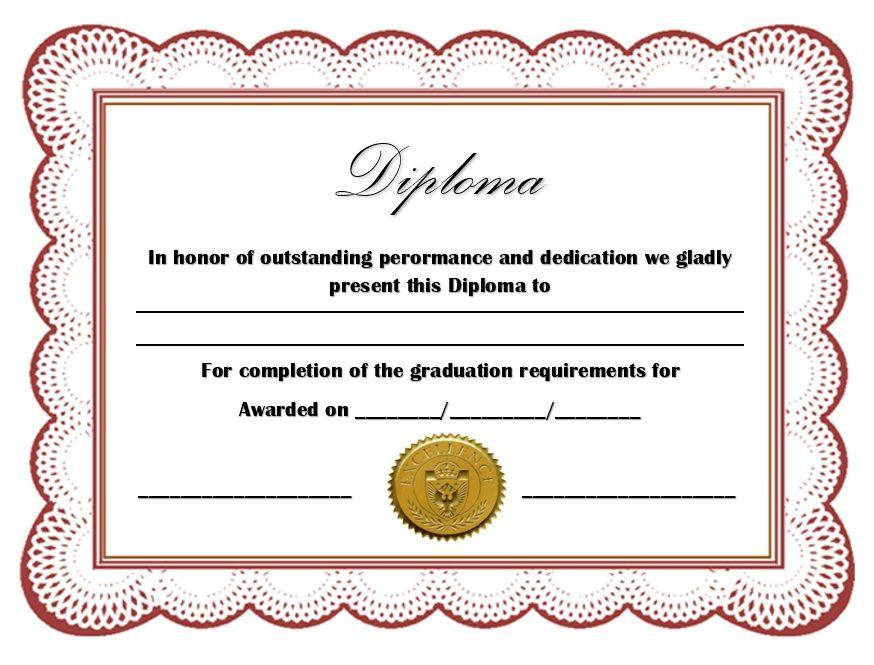 Diploma Certificate Template 18