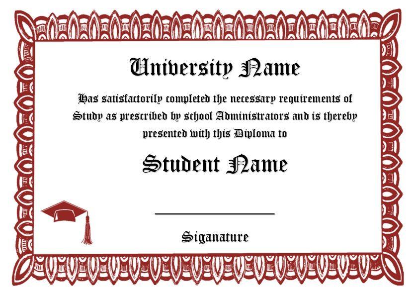 Diploma Certificate Template 22