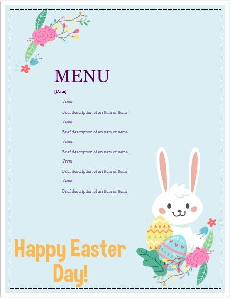 Easter-Party-Menu-Template