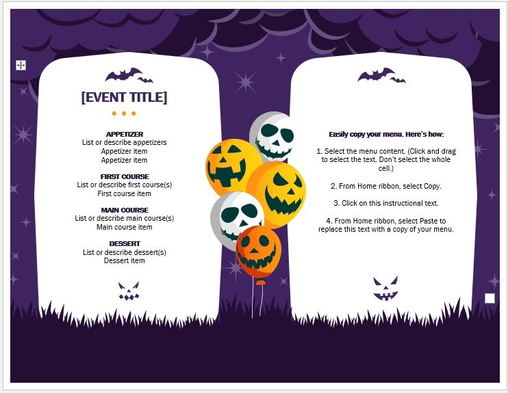 Halloween-Party-Menu-Template