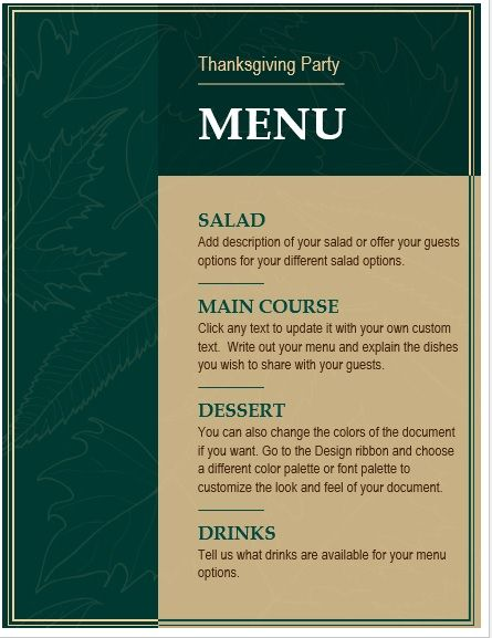Thanksgiving-Party-Menu-Template