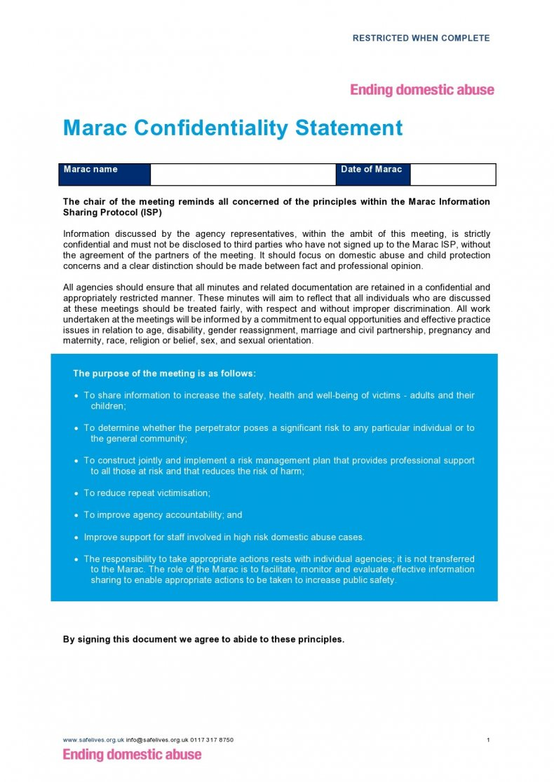 confidentiality statement template 03